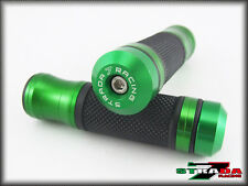 Kawasaki ZX10R Z1000 Z800 E version Strada 7 CNC Green Grips & Bar Ends Combo