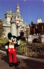 USA Welcome to Fantasyland Mickey Mouse Greets Visitors, Sleeping Beauty Castle