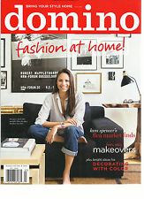 DOMINO MAGAZINE BRING YOUR STYLE HOME FALL 2014, FASHION AT HOME.