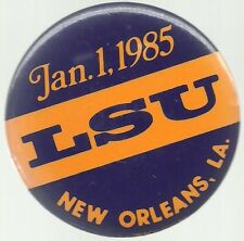 LSU 1985 SUGAR BOWL NEW ORLEANS COLLEGE FOOTBALL PIN BUTTON