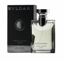 BVLGARI * SOIR * POUR HOMME MEN COLOGNE 3.4 OZ 100 ML EDT SPRAY NIB SEALED
