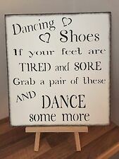 Wooden Party Wedding Sign plaque Flip Flop Shoe Shabby Chic decoration reception