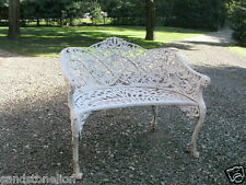 Fine Antique Cast Iron 'PASSION FLOWER' Victorian Settee Bench..RARE PIECE