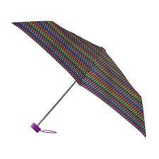 totes Miniflat Bright Bead Stripe Print Umbrella  (3 Section)