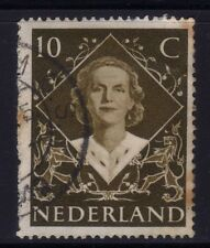 [JSC]1948 Nederland Europe 10c Vintage Dutch Stamp Queen Juliana
