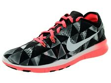 NIKE FREE TR FIT 5 PRT WOMEN TRAIN RUN SHOES BLK WHITE LAVA 8 NEW 704695-006