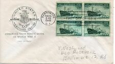 US FDC #939 Merchant Marine Block, House Of Farnam (4476)