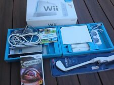 NINTENDO WII SPORTS WHITE CONSOLE BUNDLE IN BOX  + MANHUNT 2 GAME + GOLF CLUB