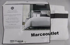 Hotel Collection Coordinated Basics Frame QUEEN Duvet & STANDARD Shams Charcoal
