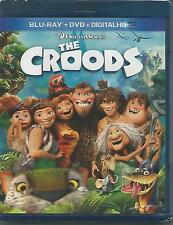 The Croods (Blu-ray+DVD+Digital HD) W/OUT SLIPCOVER BRAND NEW Fast Free Shipping