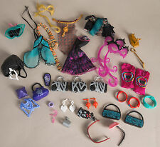 Monster High Mixed Lot of Clothes Replacement Parts Accessories Jewelry Glasses