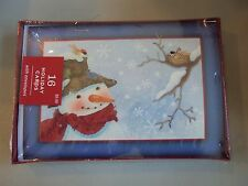 "Hallmark Boxed Lot Of 16 Christmas Cards ""Snowman""  NIB Holiday #vcfdtt"