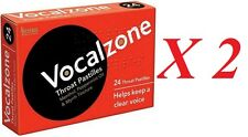 2 X Vocalzones Vocalzone - 24 Throat Pastilles Helps Keep A Clear Voice