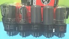 Lot of 5 RCA 50L6 GT Vacuum Tubes  Tested New On Calibrated Hickok