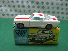 Vintage - FORD  MUSTANG  Fastback 2+2  Competition. - Corgi Toys 325 Superb