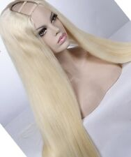 Platinum Blonde wig U part Style human hair