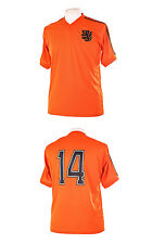 NETHERLANDS HOLLAND 1974 WORLD CUP CRUYFF CRUIFF 14 RETRO FOOTBALL SHIRT XL