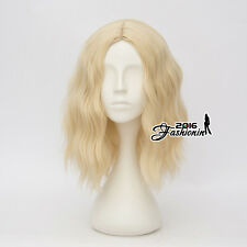 35CM Light Blonde Fancy Curly Women Lolita Heat Resistant Party Hair Cosplay Wig