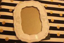 """9 X 7""""  Baroque oval photo frame in white porcelain fits 4 X 6"""" photo."""