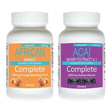 SUPER AFRICAN MANGO EXTRACT PLUS CLEANSE + ACAI BERRY CLEANSE WEIGHT LOSS DIET