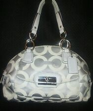 Authentic Coach Kristin 19329 Op Art Domed Satchel  Gray �� Sateen*CuTe*����$58