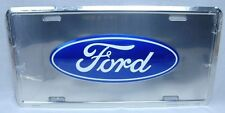 FORD CHROME LICENSE PLATE CAR TRUCK TAG EXPLORER ESCORT F150 MUSTANG SUPER-DUTY
