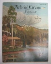 Vintage PICTORIAL CARVING FINESSE Pattern Book Booklet Al Stohlman Tandy #1950