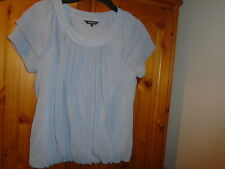 Grey 2 layer floaty top with scoop neck and bubble hem, PAPAYA, size 10