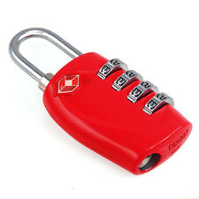 4-Dial TSA Combination Padlock Luggage Suitcase Bag Travel Security Lock Red