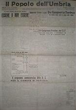 IL POPOLO DELL'UMBRIA 1-7 APRILE 1946 INCIDENTI PONTEVALLECEPPI DC PERUGIA