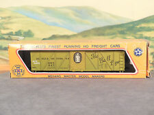 HO 1:87 Old Vintage Mehano 40' Wood Box Car MUNCIE WESTERN BALL LINE AUTO PARTS