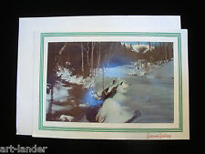 Vtg UNUSED Christmas Winter in Cascades Snow Photo Greeting Card Smith-Western