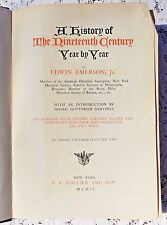 ANTIQUE 1902 1st EDITION - A HISTORY OF THE 19th CENTURY YEAR BY YEAR - VOL II