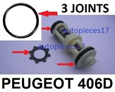 KIT 3 JOINTS + CLIPS  REPARATION PANNE SUPPORT FILTRE GASOIL PEUGEOT 406 DIESEL