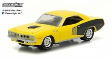 1:64 Greenlight *BARRET-JACKSON SCOTTSDALE* Yellow 1971 Plymouth HEMI Cuda NIP!