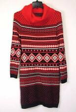 NWT TOMMY HILFIGER PRINTED COWL-NECK SWEATER DRESS S
