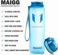 MAIGG Best Sports Water Bottle Leak Proof Eco Friendly BPA-Free Plastic 17oz