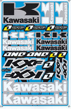 Kawasaki Sticker Vinyl Decal Blue Motorcycle Racing Bike New Gift Free Shipping