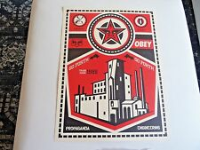 "NEW 2009 Obey Giant X LEVIS Shepard Fairey """" OBEY FACTORY """"  Art Print + KAWS"
