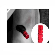 4PCS Tapones de válvula Cubierta Tapas Vástago Rojo Neumático Coche bici