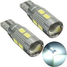 2X LAMPADE T10 W5W 5630 10 LED SMD CANBUS ERROR FREE LUCE BIANCA 6000K AUTO 5W