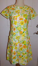 Vintage 60's Lilly Pulitzer The Lilly Shift Dress Sz 10 Spring Floral Lace Trim