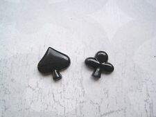 *MISMATCH POKER CLUB & SPADE* STUD SP Earrings Rockabilly Gothic Playing Cards