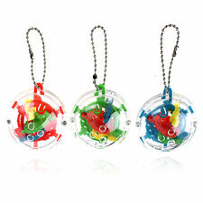 UP Keyring Intelligent Mini Puzzle Ball Addict a Ball Maze 3D Puzzle Game Toy