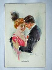 PERSUASION Usabal innamorati lovers old postcard AK vecchia cartolina