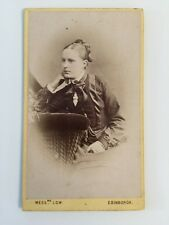 Victorian Carte De Visite CDV Photo - Low - Edinburgh - Lady