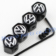 Anti-theft Black Metal Car Wheel Tyre Tire Stem Air Valve Cap For Volkswagen VW