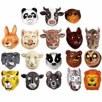 SMALL - Plastic Animal Party Mask Children Fancy Dress Costume Elasticated Strap