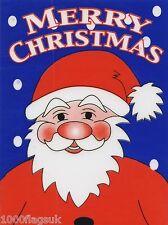 Navidad aferrarse Vinilo coche ventana calcomanía-Padre De Navidad Santa Claus Cc4