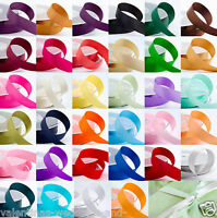 Full Reel Double Sided Satin Quality Tying Ribbon Crafts Sewing 25m 50m Roll